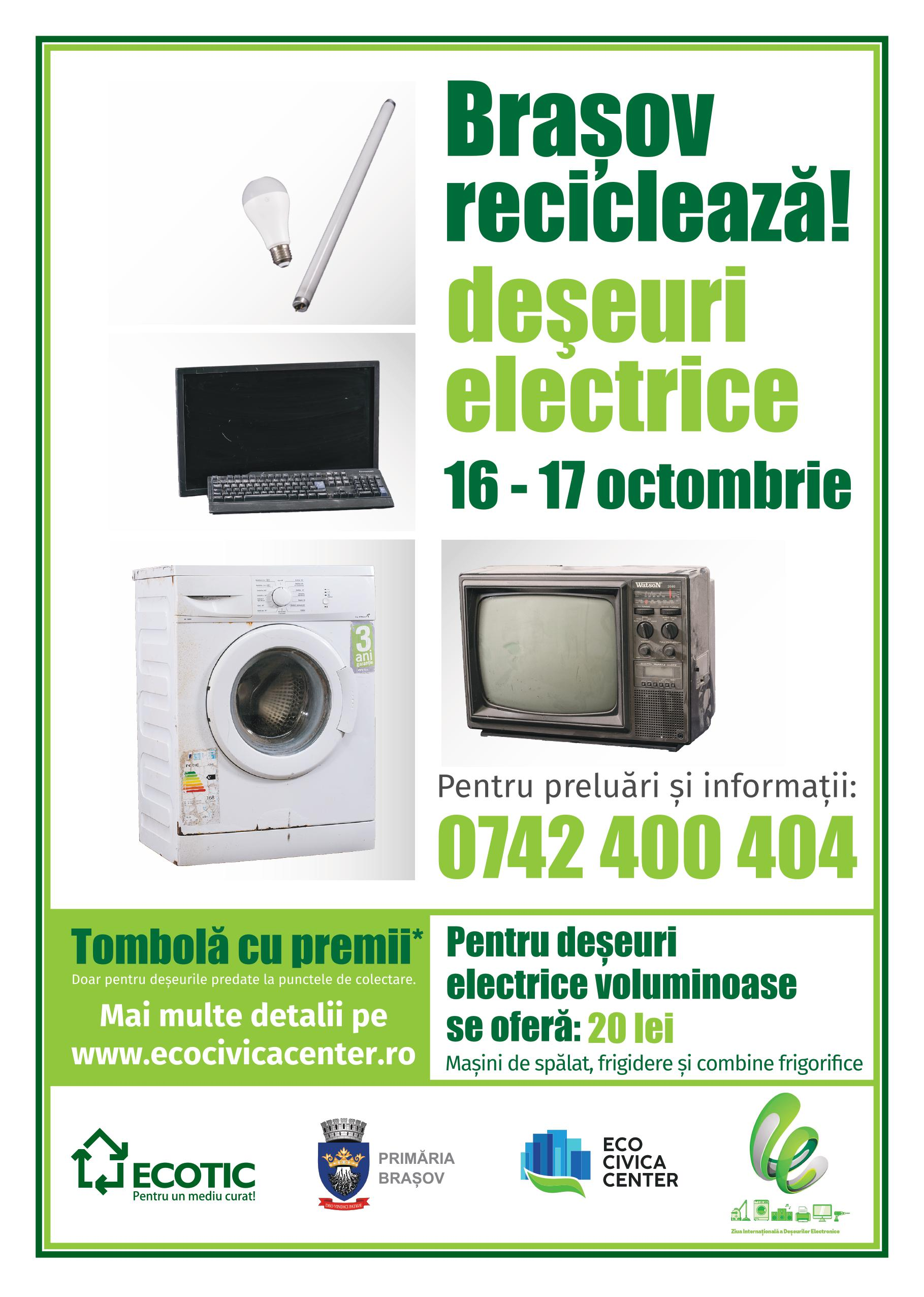 Brasov recicleaza deseuri electrice Octombrie 2021